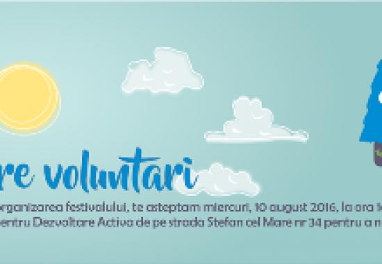 Se recrutează  voluntari pentru Festivalul educațional Zilele Parcului Gherăiești !